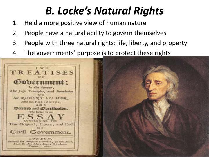 B locke s natural rights