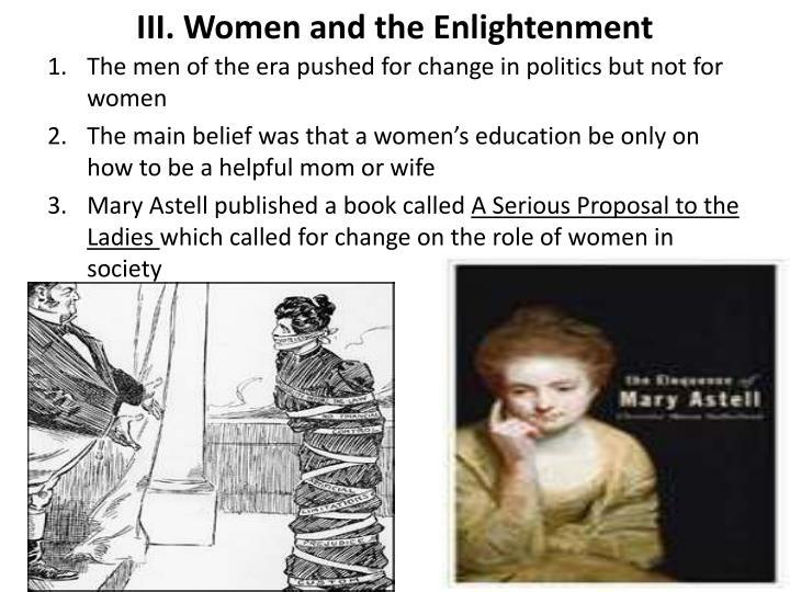 III. Women and the Enlightenment