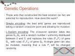 genetic operations