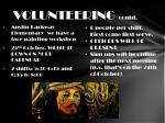 volunteering contd
