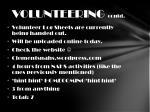 volunteering contd1