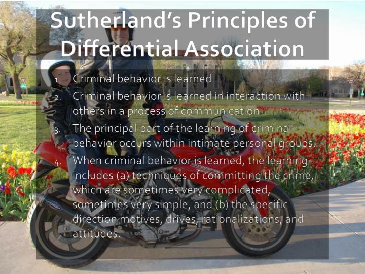Sutherland s principles of differential association