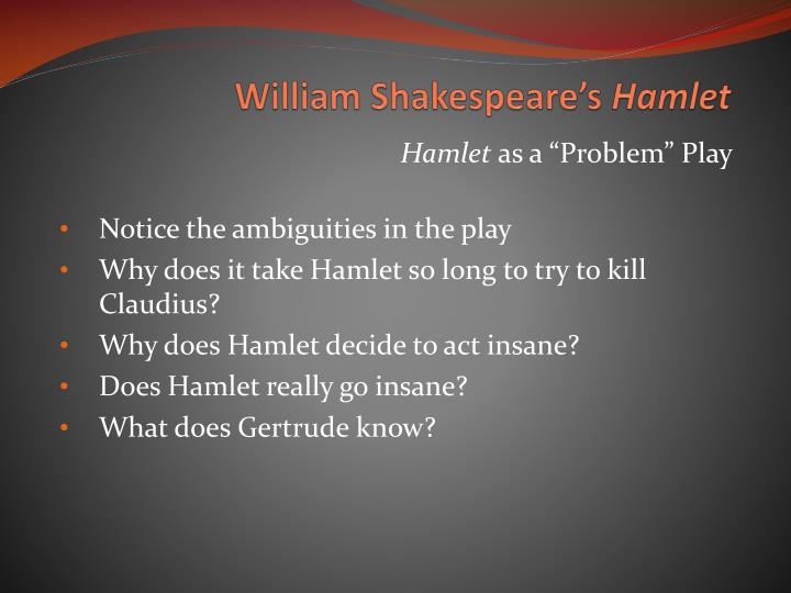 a literary analysis of the sanity in hamlet by william shakespeare Need help with act 1, scene 3 in william shakespeare's hamlet check out our revolutionary side-by-side summary and analysis.