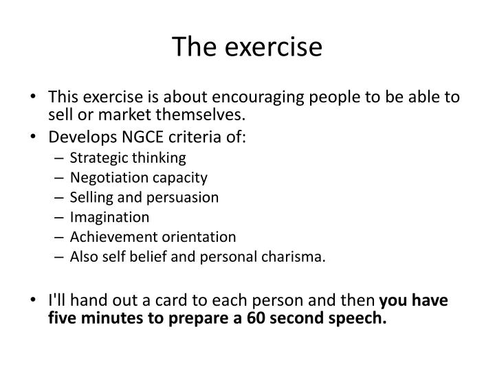 The exercise