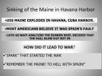 sinking of the maine in havana harbor