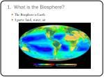 1 what is the biosphere