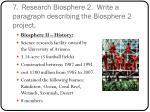 7 research biosphere 2 write a paragraph describing the biosphere 2 project