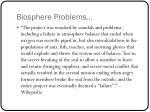 biosphere problems