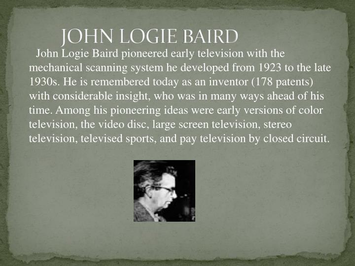 JOHN LOGIE