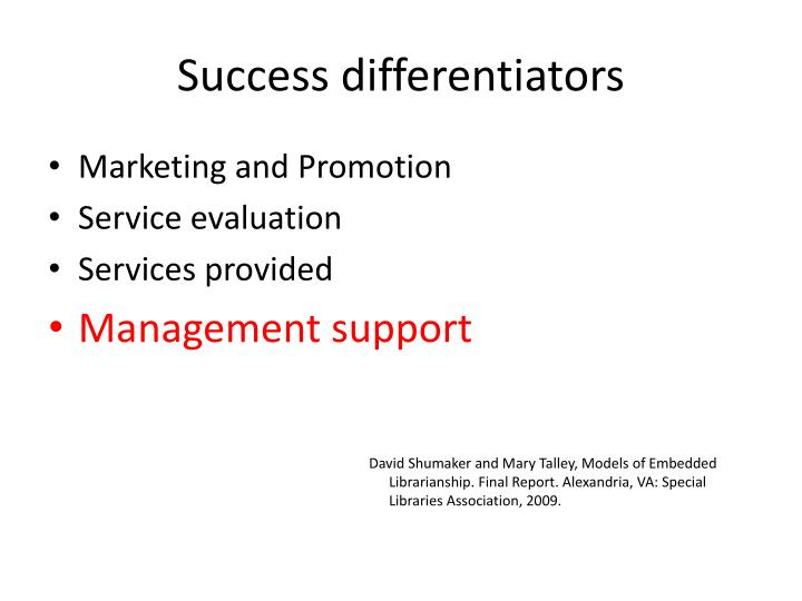 Success differentiators1