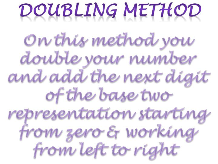 Doubling method