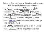 corinne et c lia are shopping complete each sentence with the correct indirect object pronoun