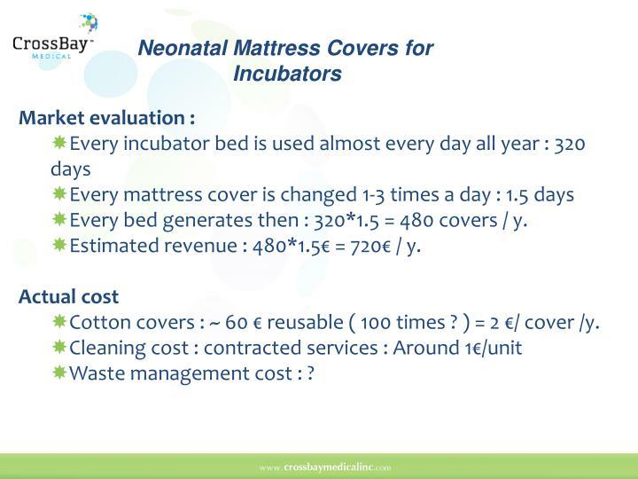 Neonatal Mattress Covers for       Incubators