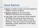 good rations1