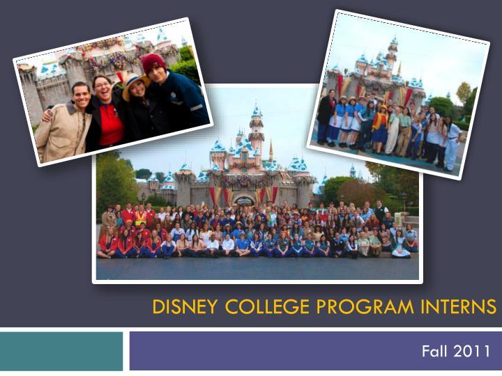 Disney College Program Interns