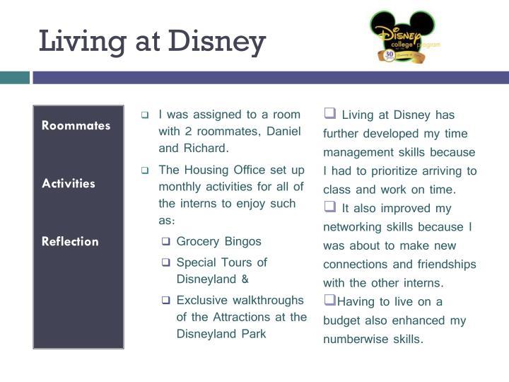 Living at Disney