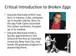 critical introduction to broken eggs