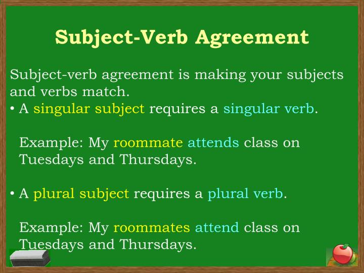 Ppt Subject Verb Agreement Powerpoint Presentation Id1863127