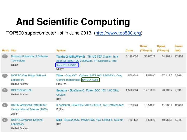 And Scientific Computing