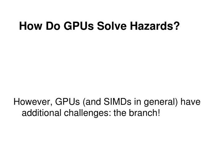 How Do GPUs Solve Hazards?