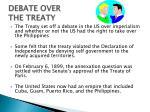 debate over the treaty