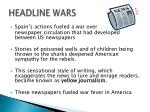 headline wars