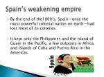spain s weakening empire