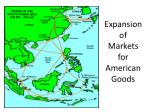 expansion of markets for american goods