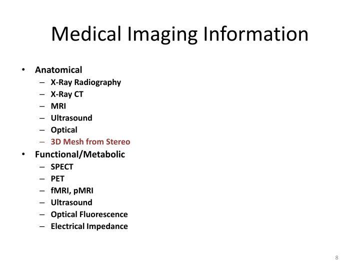 Medical Imaging Information
