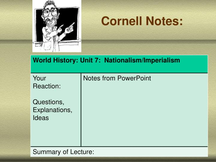 Cornell Notes: