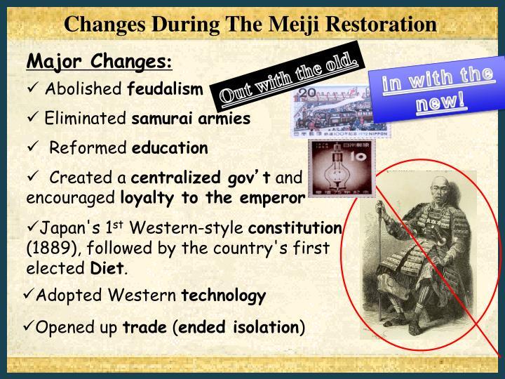 Changes During The Meiji Restoration
