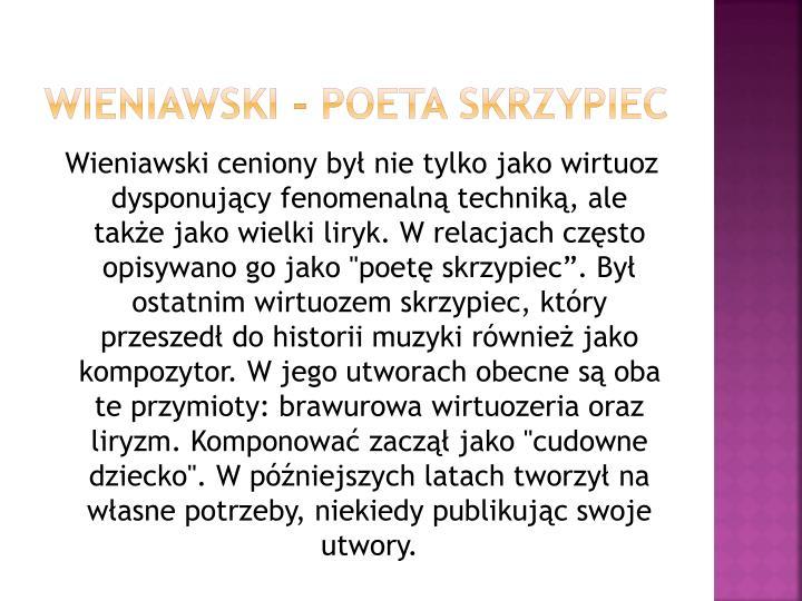 Wieniawski - Poeta skrzypiec