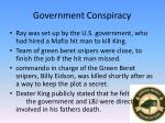 government conspiracy