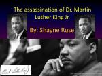 the assassination of dr martin luther king jr
