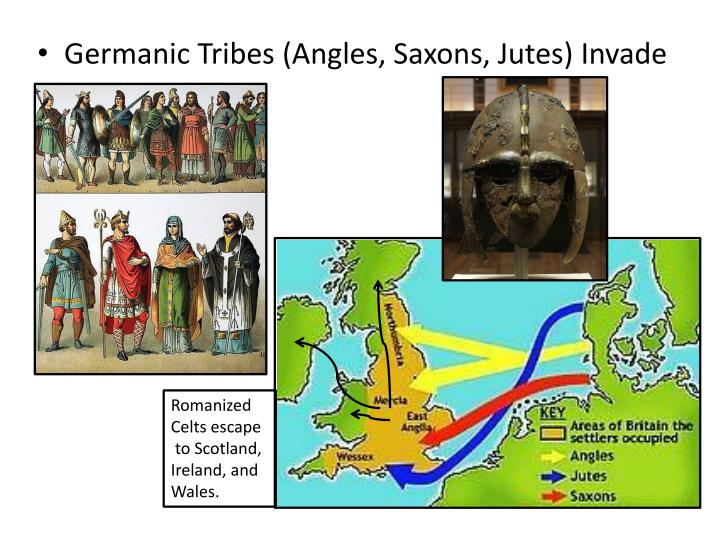Germanic Tribes (Angles, Saxons, Jutes) Invade
