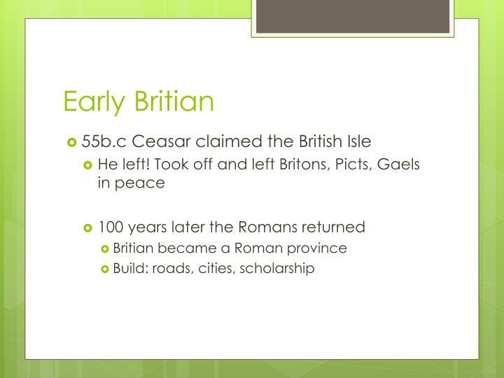 Early britian