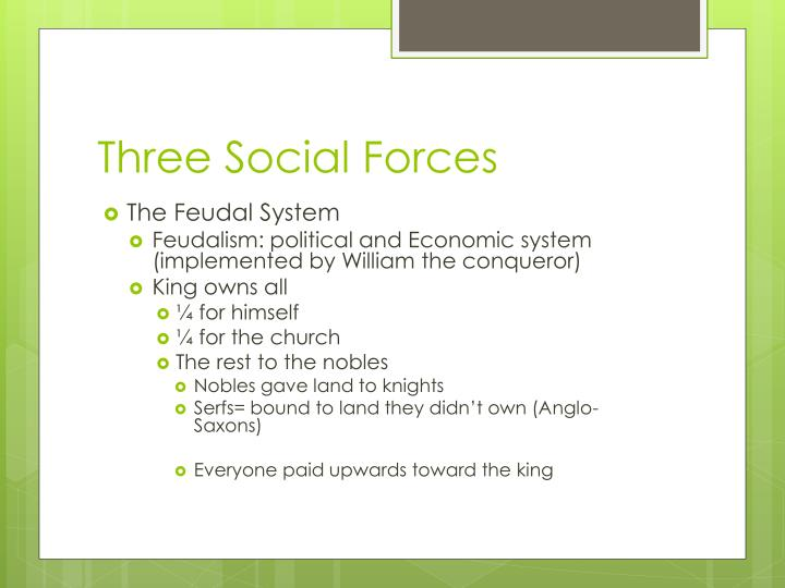 Three Social Forces