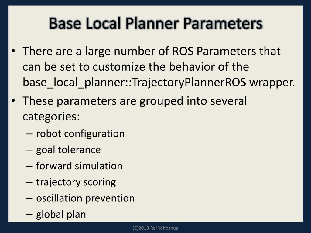 PPT - ROS - Lesson 6 PowerPoint Presentation - ID:1863711