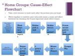 home groups cause effect flowchart