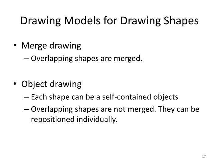 Drawing Models for Drawing Shapes