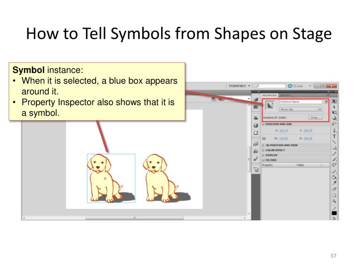 How to Tell Symbols from Shapes on Stage