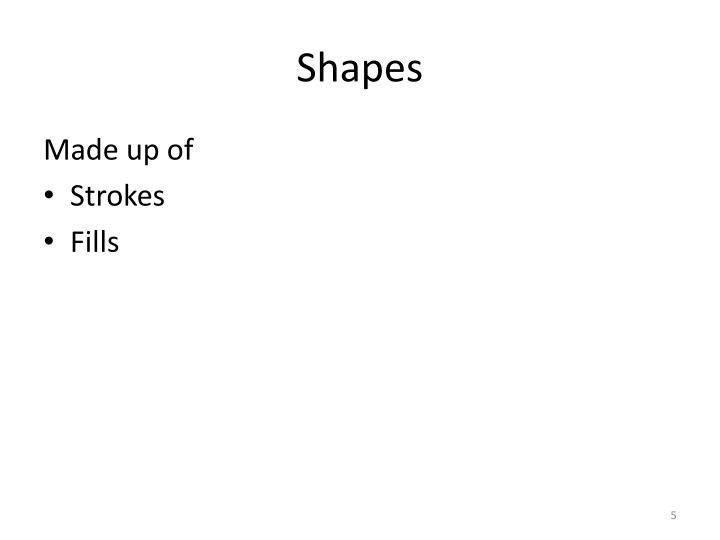 Shapes