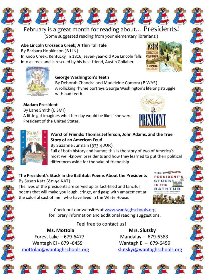 PPT - February is a great month for reading about