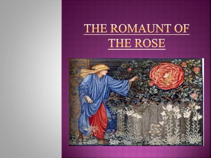 the romaunt of the rose n.