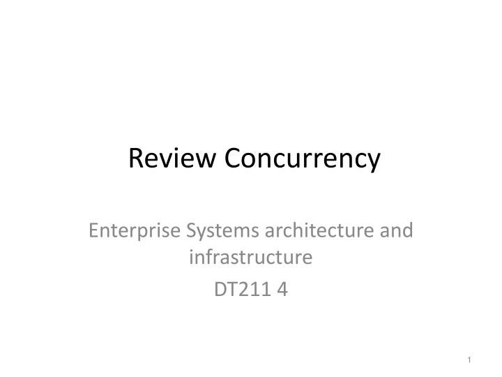 review concurrency n.
