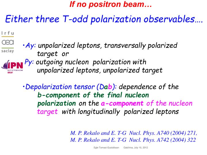 If no positron beam…