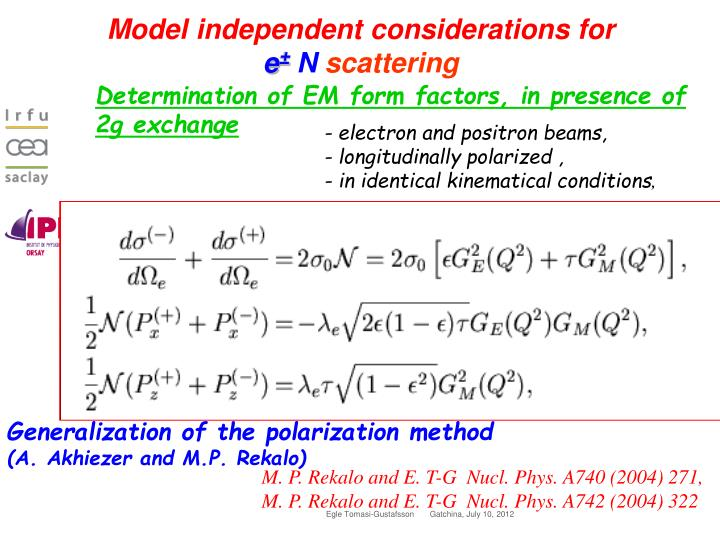 Model independent considerations for