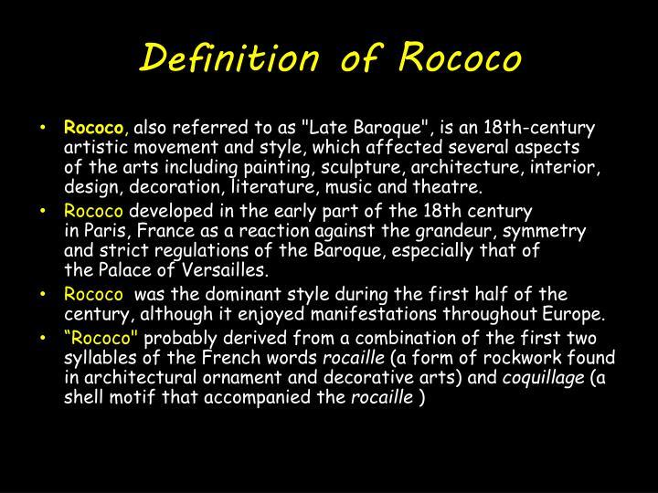 Definition of rococo