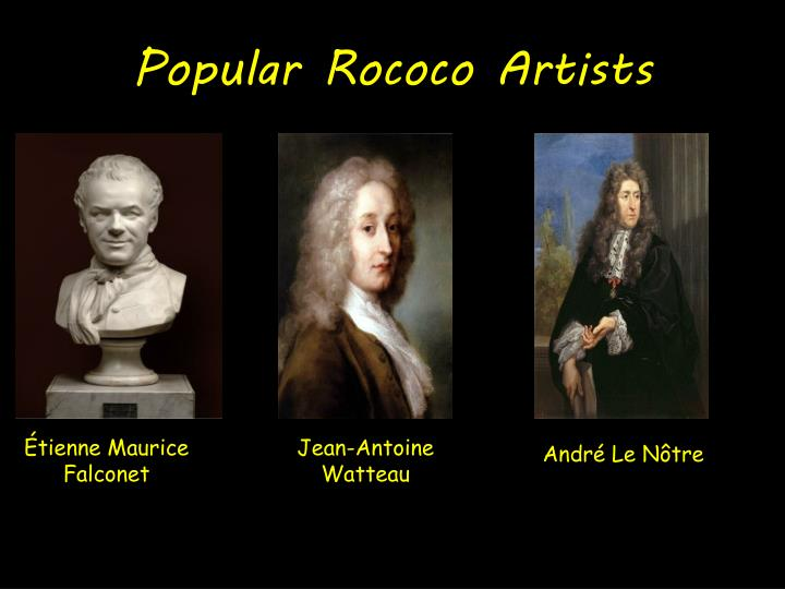 Popular Rococo Artists