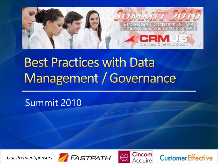 best practices with data management governance n.
